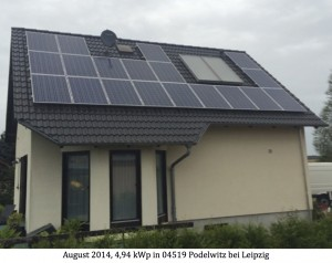 Photovoltaikanlage 04519 Podelwitz bei Leipzig