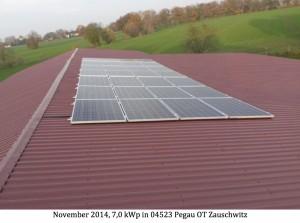 Photovoltaikanlage 04523 Pegau OT Zauschwitz